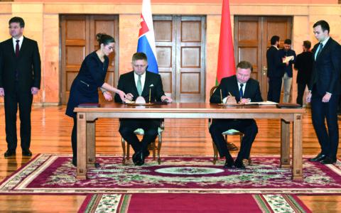 Predseda slovenskej vlády chce spolupracovať s Bieloruskom najmä v oblasti zdravotníctva