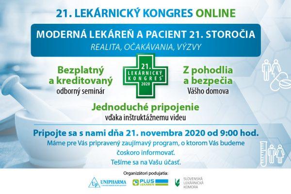 21. Lekárnicky kongres ONLINE