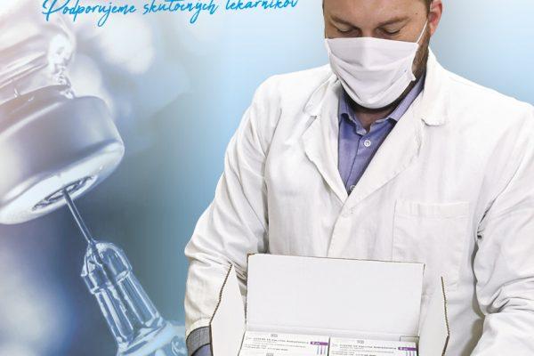 Vakcíny AstraZeneca v distribučnom sklade UNIPHARMA
